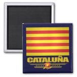 Flag of Cataluna (Catalonia) 2 Inch Square Magnet