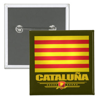 Flag of Cataluna (Catalonia) Pinback Button