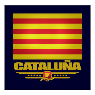 Flag of Cataluna (Catalonia) Poster