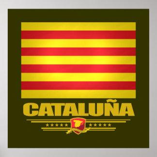 Flag of Cataluna (Catalonia) Poster