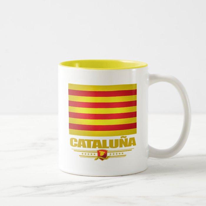 Flag of Cataluna (Catalonia) Two-Tone Coffee Mug