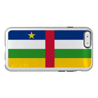 Flag of Central African Rep. Silver iPhone Case