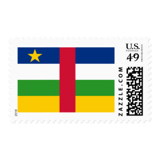 Flag of Central African Republic Postage Stamps