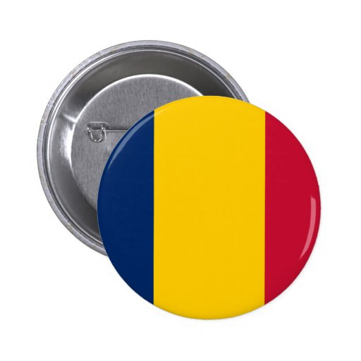 Flag of Chad 2 Inch Round Button