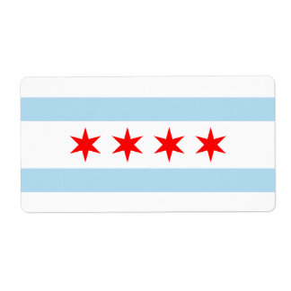 Flag of Chicago Avery Label
