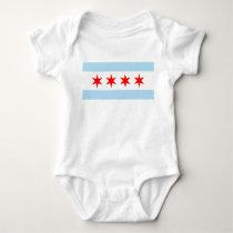 Flag of Chicago Baby Bodysuit