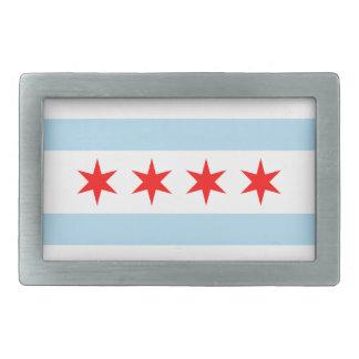 Flag of Chicago Belt Buckle