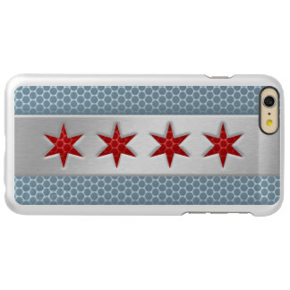 Flag of Chicago Brushed Metal Incipio Feather Shine iPhone 6 Plus Case