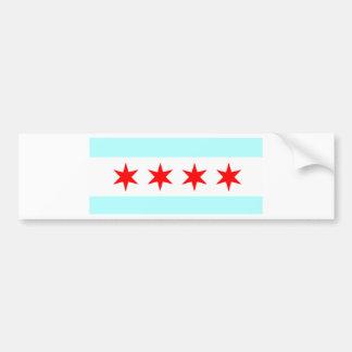Flag of Chicago Bumper Sticker