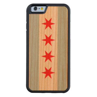 Flag of Chicago Carved Cherry iPhone 6 Bumper Case