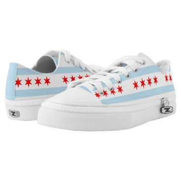 USA Themed Flag of Chicago, Illinois Low-Top Sneakers