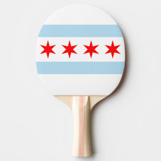 Flag of Chicago, Illinois Ping-Pong Paddle