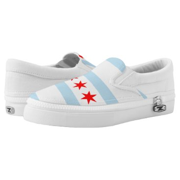 USA Themed Flag of Chicago, Illinois Slip-On Sneakers