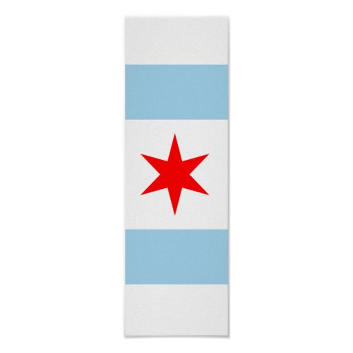 Flag of Chicago Poster Art 1 of 4