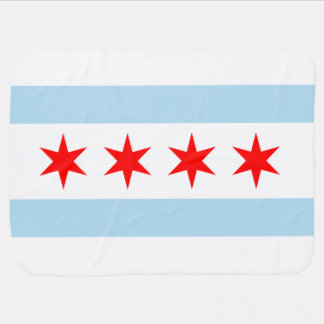 Flag of Chicago Receiving Blanket