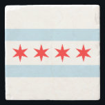 "Flag of Chicago Stone Coaster<br><div class=""desc"">Flag of Chicago Stone Coaster</div>"