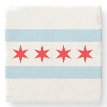 Flag of Chicago Stone Coaster