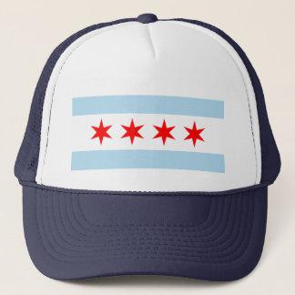 Flag of Chicago Trucker Hat