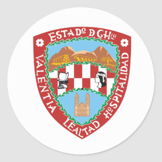 Flag of Chihuahua Classic Round Sticker