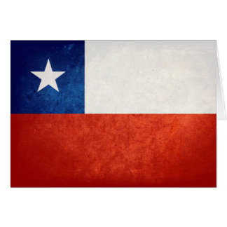 Flag of Chile Card