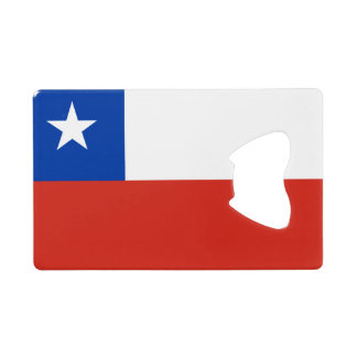 Flag of Chile Credit Card Bottle Opener