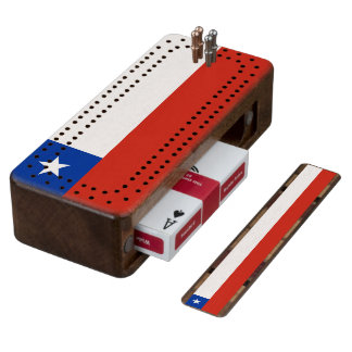 Flag of Chile Cribbage Board