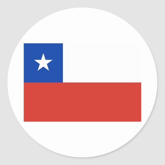Flag of Chile  Tshirts, Buttons, Apparel Classic Round Sticker