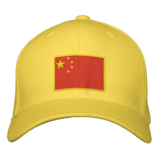 Flag of China Embroidered Hat