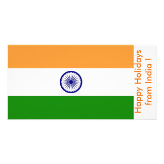 Flag of China, Happy Holidays from India Card