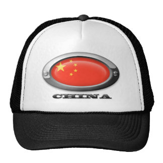 Flag of China in Steel Frame Trucker Hat