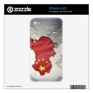 Flag of China iPhone 4 Decals