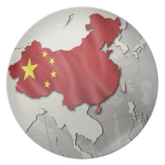Flag of China Party Plate