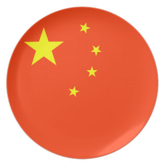 Flag of China Plate
