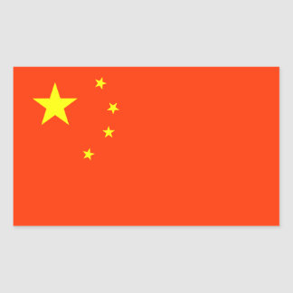 Flag of China Rectangular Sticker