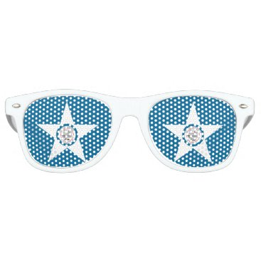 USA Themed Flag of city of Houston, Texas Retro Sunglasses