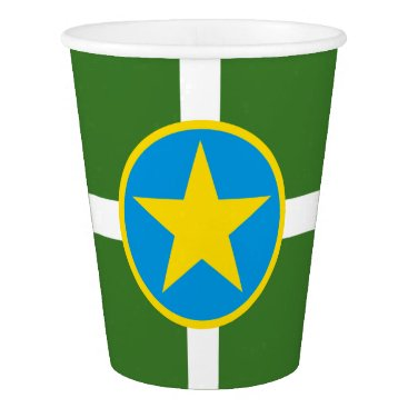 USA Themed Flag of city of Jackson, Mississippi Paper Cup
