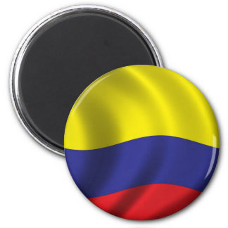 Flag of Colombia 2 Inch Round Magnet