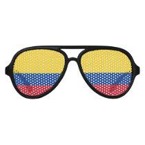 Flag of Colombia Bandera De Colombia Aviator Sunglasses