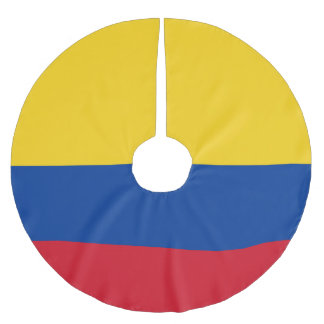 Flag of Colombia Bandera De Colombia Brushed Polyester Tree Skirt