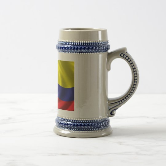 Flag of Colombia Beer Stein