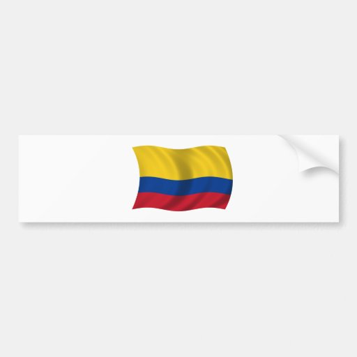 Flag of Colombia Car Bumper Sticker