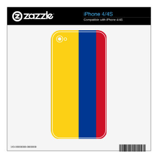 Flag of Colombia Decals For iPhone 4