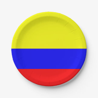 Flag of Colombia Paper Plate
