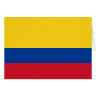 Flag of Colombia Yellow Blue Red Card