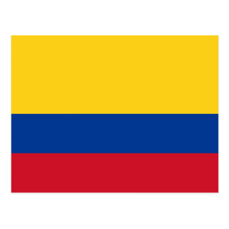 Flag of Colombia Yellow Blue Red Postcard