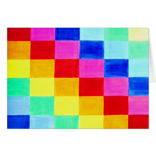 Flag of Color Abstract Background Card
