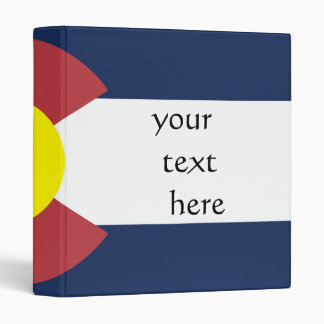 Flag of Colorado 3 Ring Binder