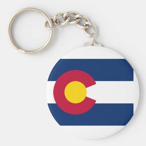flag of colorado basic round button keychain