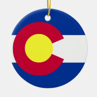 Flag of Colorado Ceramic Ornament