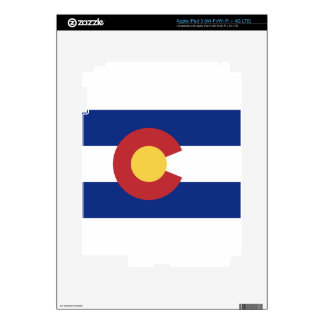 Flag of Colorado Decals For iPad 3
